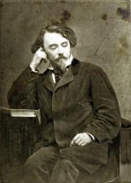 Auguste de Villiers de l'Isle Adam, portrait de la collection Félicien Marboeuf. Œuvre d'Alain Rivière, artiste.