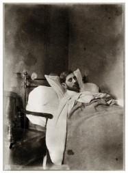 Charles Maurras, portrait de la collection Félicien Marboeuf. Œuvre d'Alain Rivière, artiste.