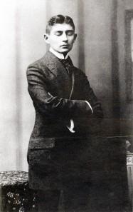 Franz Kafka, portrait de la collection Félicien Marboeuf. Œuvre d'Alain Rivière, artiste.