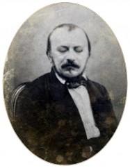 Gérard de Nerval, portrait de la collection Félicien Marboeuf. Œuvre d'Alain Rivière, artiste.
