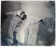 Gustave Flaubert, portrait de la collection Félicien Marboeuf. Œuvre d'Alain Rivière, artiste.