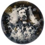 Henry David Thoreau, portrait de la collection Félicien Marboeuf. Œuvre d'Alain Rivière, artiste.