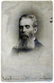 Herman Melville, portrait de la collection Félicien Marboeuf. Œuvre d'Alain Rivière, artiste.