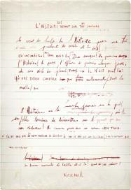 Hubris 2. Manuscrit d'un auteur imaginaire. Œuvre d'Alain Rivière, artiste plasticien.
