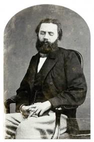 Jules Valles, portrait de la collection Félicien Marboeuf. Œuvre d'Alain Rivière, artiste.