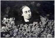 Louise Michel, portrait de la collection Félicien Marboeuf. Œuvre d'Alain Rivière, artiste.