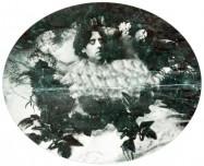 Oscar Wilde, portrait de la collection Félicien Marboeuf. Œuvre d'Alain Rivière, artiste.