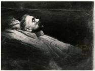 Stéphane Mallarmé, portrait de la collection Félicien Marboeuf. Œuvre d'Alain Rivière, artiste.