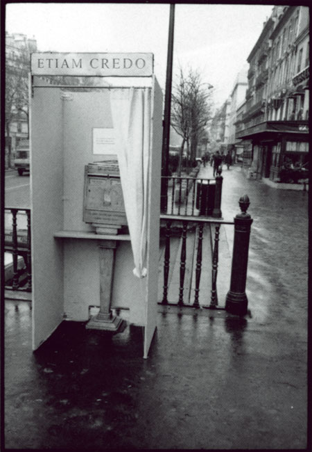 Alain Rivière, isoloir, paris, 1986